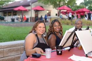 B'More Fit owner and platinum sponsor Chyla Hunter (left)