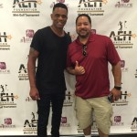 Juan Dixon with #1 Selfie App gold level sponsor Tyree McCain