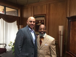 Meeting with Bishop Fred A. Caldwell, Sr.  He passed on some great nuggets of wisdom!