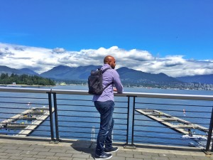 Breathing in the fresh air and loving the sights of Canada